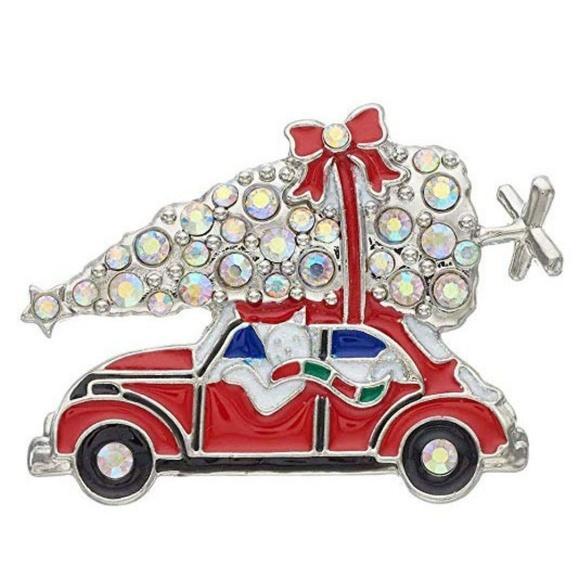 Kohls Christmas Trees.Silvertone Christmas Tree Cat In Vw Volkswagen Pin Nwt